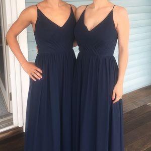 EUC Bill Levkoff Bridesmaid Dress in Navy. Sz 4/6